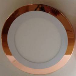 273/2010 Downlight led superficie Cobre bisel Blanco