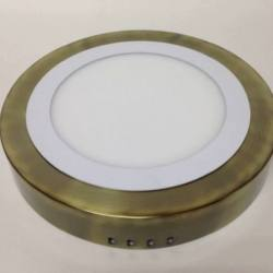 273/2010 Downlight led superficie Oro Envejecido bisel Blanco